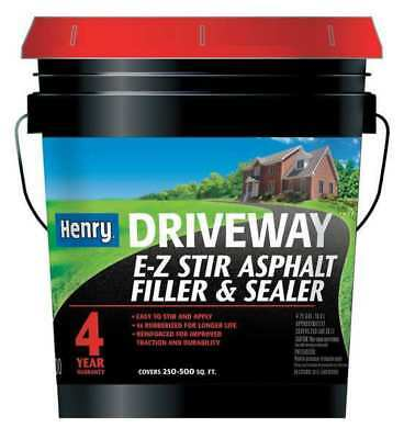 Black Asphalt Filler and Sealer, HE200GR074, Henry