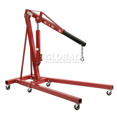 Folding Floor Crane With Telescopic Boom 4000 Lb. Capacity