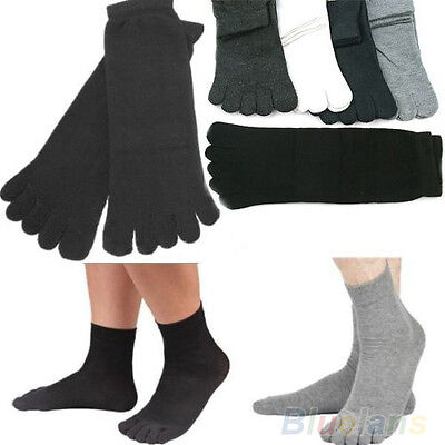 5 Pairs Men's Five Seperate Finger Toes Comfortable Cotton Winter Warm Socks