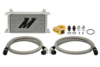 Mishimoto Thermostatic Universal 19 Row Oil Cooler Kit - Silver