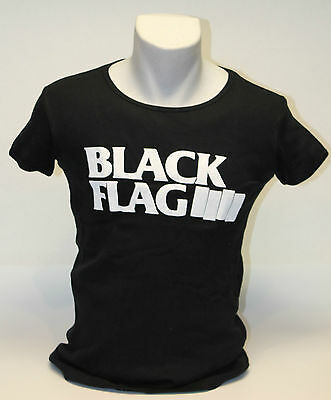 Black Flag Girlieshirt  Grösse S-L