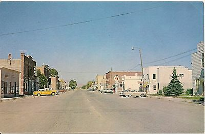Street Scene Twin Bridges MT Postcard