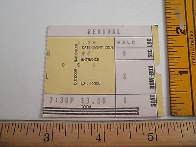 CCR Creedence Clearwater Revival VINTAGE 1970 ticket stub The Forum Los Angeles