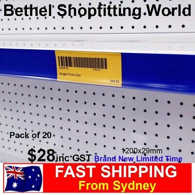 Pack of 20 Data Strips 1200mm Retail Price Label Holder For Shelving Gondola NEW