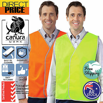 Hi Vis Safety Vest Yellow Aus Standard Orange Work Size Light Weight Cool