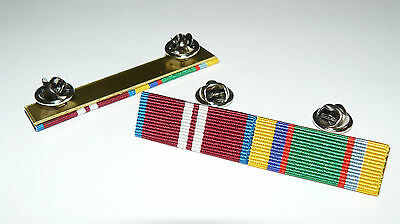 Queens Diamond Jubilee + Cadet Forces Medal Ribbon Bar Brooch Pin Bar
