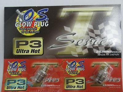 O.S. OS Glow Plugs P3 Ultra Hot Turbo FOR MAX 21VZ-B V-Spec Turbo Head 12pcs set