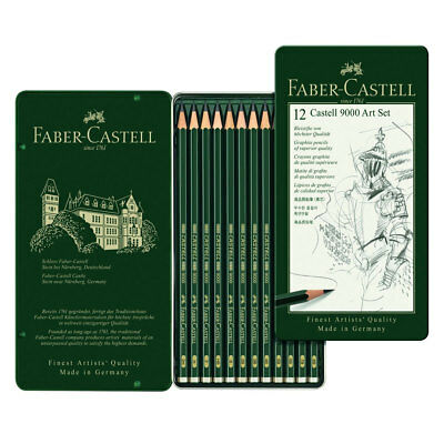 Faber Castell Finest Artist 9000 Drawing Pencil Tin Set 8B-2H