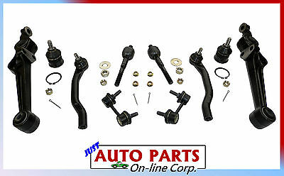 INNER OUTER TIE RODS BALL JOINTS LOWER CONTROL ARMS HONDA ACCORD 98-03 SWAY BARS