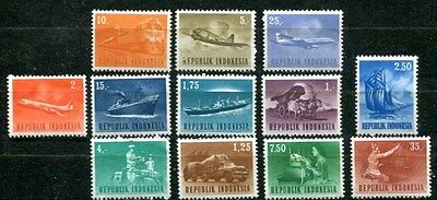 Indonesia 1964 Transportation - Development Mint Complete Set Of 12 Stamps!