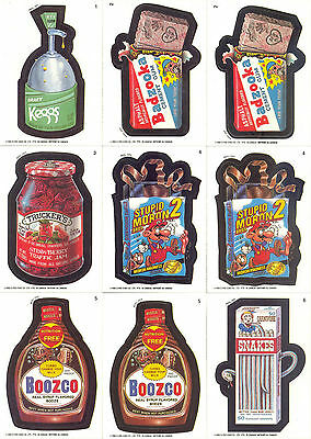 Wacky Packages 1992 O Pee Chee Complete Base Card Set Of 48 + 18 Variations Sf