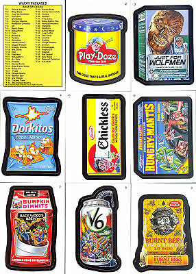 Wacky Packages A New Series Ans7 2010 Topps Complete Base Card Set Of 55 Sf