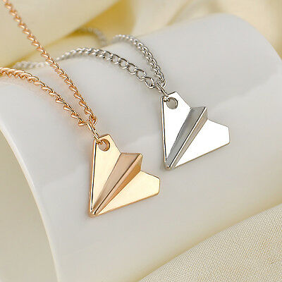 One Direction 1D Harry Styles Paper Airplane Silver & Gold Charms Necklaces