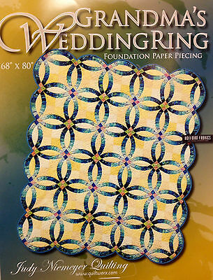 Judy Niemeyer GRANDMA'S WEDDING RING Foundation Paper Pieced Quilt Pattern