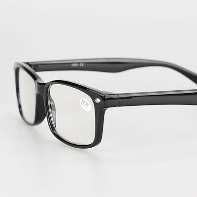 Black Adult Unisex Classic Retro Vintage Computer Reading Glasses +1.00 to +4.00