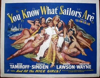 Uk Rank Films You Know What Sailors Are Original Vintage Rolled Sexy Half Sheet