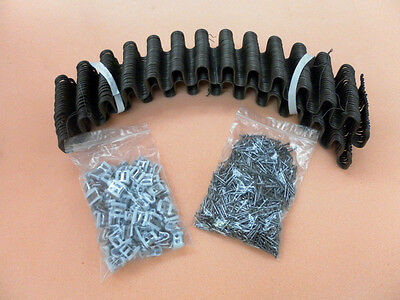 Serpentine upholstery springs. Zigzag springs, clips & nails. SELECT ANY SIZE.