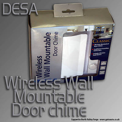 Classic Wireless Door Chime - 80/2 - Wall Mountable