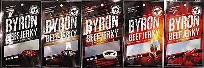 BYRON BEEF JERKY  20 Snack Bags - Choose your flavours