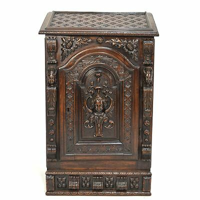 18th century Carved Oak French Prie Dieu Cabinet