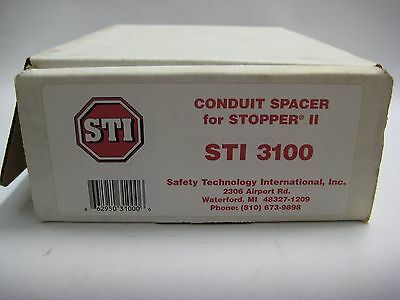Lot of 3 STI 3100 Conduit Spacer for Stopper II - Clear