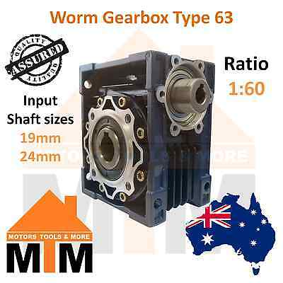 Gearbox Worm Type 63 1:60 Ratio 60 Reduction