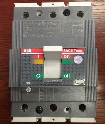 ABB brand 3 pole 3 phase125A rated mains switch circuit breaker - made in Italy