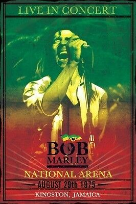 BOB MARLEY NATIONAL ARENA 1975 JAMAICA POSTER (61x91cm)  PICTURE PRINT NEW ART
