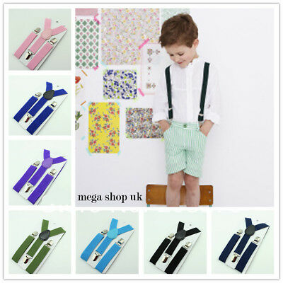 Adjustable Slim Childrens Braces Suspenders Adjustable Boys Girls  Clip On SU002