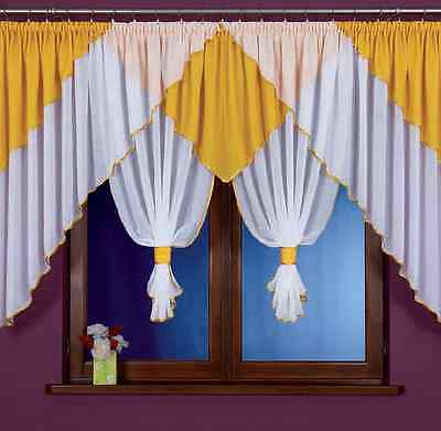 Beautiful White Voile Net Crinkle Curtain Luxury Design Home Window Decorations
