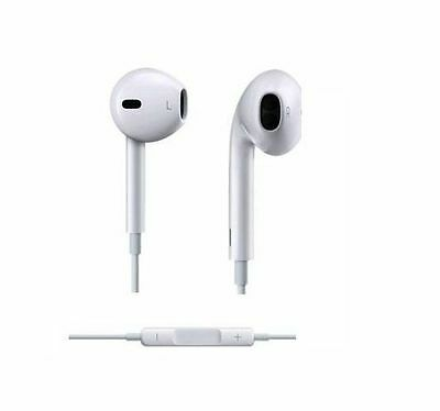Lots 20 White Earphone Headphone With Remote Mic Volume  For iPhone 5 5S 4S iPod