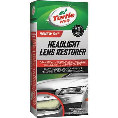 Headlight Lens Restorer Restoration Kit Cleaner Cloudy Yellow Turtle Wax T240KT