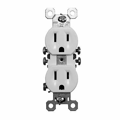 PASS & SEYMOUR 3232-W 3P GROUNDING DUPLEX RECEPTACLE 125V 15A WHITE (10 PACK)