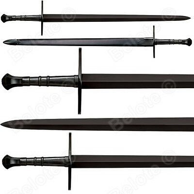 """Cold Steel MAA Hand-And-A-Half Sword 42.5"""" Leather Scabbard 1055 Carbon 88HNHM"""