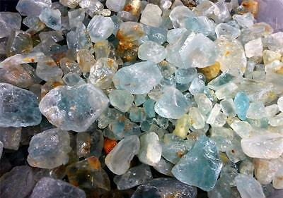 1lb Lot of Natural Blue Topaz Crystals Rough Natural Unheated Gemstones Brazil