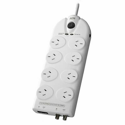 APC SurgeArrest 8 Outlet Way Surge Protector Coax Network protect Power Board