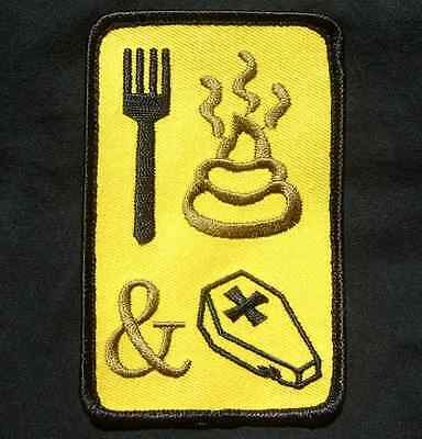 Eat Sh*t And Die Tactical Usa Military Us Army Morale Color Hook Patch