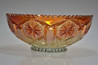 """1920's #612 STAR and FILE by Imperial RUBIGOLD Sawtooth Edge 6 7/8"""" D Bowl"""