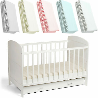 2x Cot 120 x 60cm 100% Soft Cotton Jersey Fitted Sheets