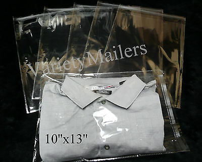100 Piece Combo 8x10 10x13 Clear Poly Merchandise Cello Bags 1.5 Mil Resealable