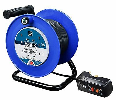 Masterplug 25m 4 Socket 13 Amp Cable Reel with RCD Attached & Thermal Cut Out