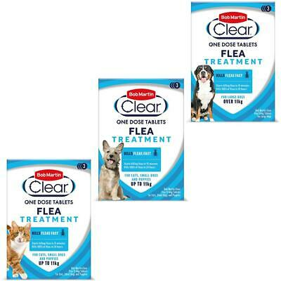 Bob Martin Clear Flea Tablets for Dog Puppy & Cat Flea Kill Treatment