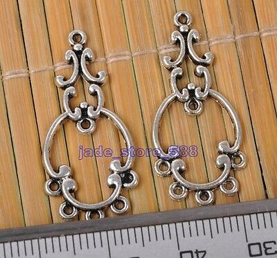 20pcs Tibetan silver style in vogue charm Connectors Earring Findings Jewelry