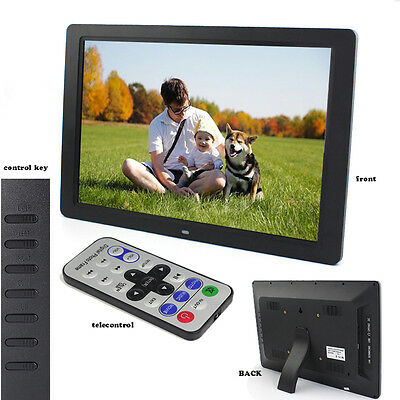 15 Inch LCD Multi-media Digital Picture Photo Frame with Remote Control Black