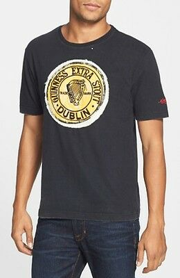 """Guinness Black Distressed Style """"Dead Ringer"""" T Shirt by RED JACKET USA (S-XXL)"""