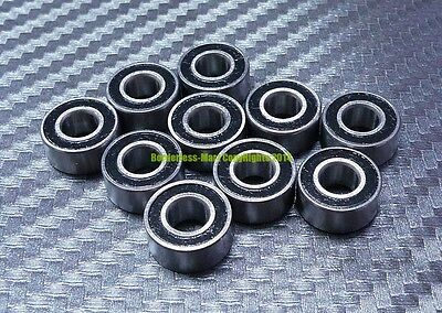 [10 Pcs] MR148-2RS (8x14x4 mm) Rubber Double Sealed Ball Bearing MR148RS (BLACK)
