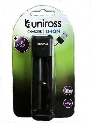 60 x UNiROSS FAST Li-ION CHARGER for 18650, 18350, 18500, 14500, RCR 123A