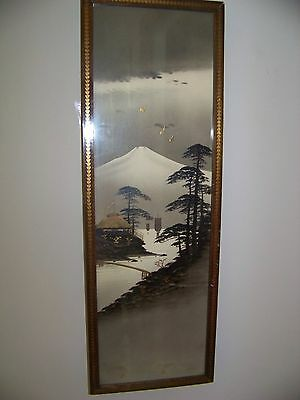 Vintage Chinese Hand Painted Framed Picture Dayton Company  Picture Galleries