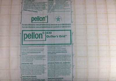 Pellon 820 QUILTER'S GRID  Fusible Gridded Interfacing - 1 inch square