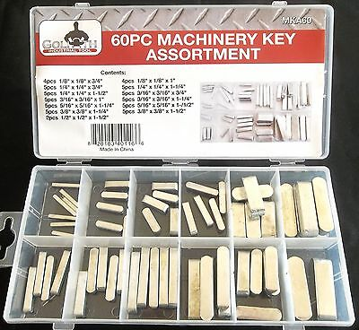60pc GOLIATH INDUSTRIAL MACHINERY KEY ASSORTMENT MKA60 FLYWHEEL PULLEY CRANK WAY